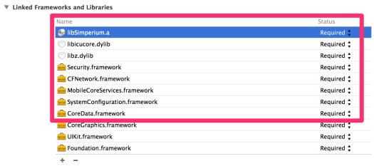 Required Frameworks